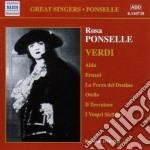 Rosa ponselle sings verdi cd musicale di Giuseppe Verdi
