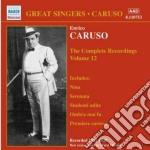 Integrale delle registrazioni vol.12 cd musicale di Enrico Caruso