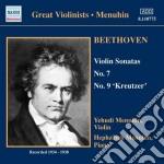 Sonata per violino n.7 op.30, n.9 op.47, cd musicale di Beethoven ludwig van