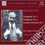 Sinfonia n.1 op.21, n.4 op.60, leonora n cd musicale di Beethoven ludwig van