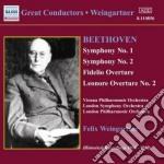 Sinfonie n.1 op.21, n.2 op.36, ouverture cd musicale di Beethoven ludwig van
