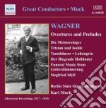Overtures e preludi cd musicale di Richard Wagner