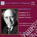 Beethoven Ludwig Van - Sinfonia N.7 Op.92, N.8 Op.93, Egmont cd musicale di Beethoven ludwig van