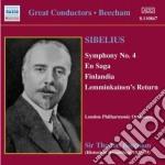 Sinfonia n.4, una saga, finlandia, lemmi cd musicale di Jean Sibelius