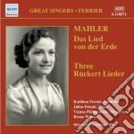 Das lied von der erde, 3 r????ckert-lieder cd musicale di Gustav Mahler
