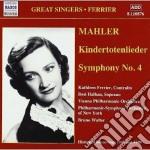 Sinfonia n.4, kindertotenlieder cd musicale di Gustav Mahler