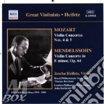Mozart-mendelssohn-violin c cd musicale di HEIFETZ