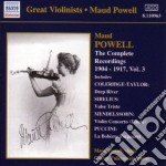 Powell Maud - Integrale Delle Registrazioni, Vol.3 cd musicale di Maud Powell