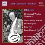 Opere per orchestra (integrale), vol.4 cd musicale di Frederick Delius