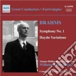 Sinfonia n.1 op.68, variazioni su un tem cd musicale di Johannes Brahms