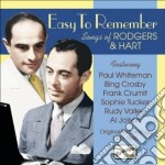 Easy to remember - songs cd musicale di Richard Rodgers