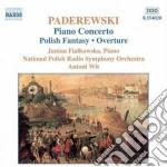 Concerto x pf op.17, fantasia polacca su cd musicale di Paderewski jan ignac