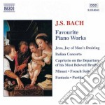 Favourite piano works cd musicale di Johann Sebastian Bach