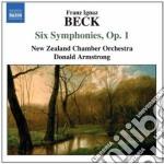 Sinfonie nn.1-6 op.1 cd musicale di Beck franz ignaz