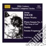 Soler Josep - Opere Per Pianoforte  - Maso Jordi  Pf cd musicale di Josep Soler