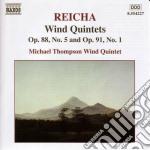 Quintetto per fiati op.88 n.5, op.91 n.1 cd musicale di Antonin Reicha