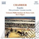 Emmanuel Chabrier - Opere X Orchestra cd musicale di Emmanuel Chabrier