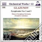 SYMP.N.3/9 cd musicale di Glazunov alexander k