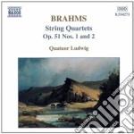 Quartetto x archi n.1 e n.2 op.51 cd musicale di Johannes Brahms