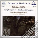 SYMP.N.6 THE FOREST cd musicale di Glazunov alexander k