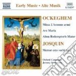 Missa l'homme arme cd musicale di OCKEGHEM-DESPREZ