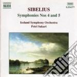 Sibelius Jean - Sinfonia N.4 Op.63, N.5 Op.82 cd musicale di Jean Sibelius