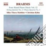 Opere per pianoforte a 4 mani cd musicale di Johannes Brahms