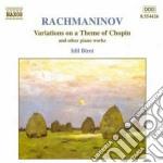 Variazioni su un tema di chopin, momento cd musicale di Sergei Rachmaninov