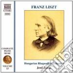 Opere x pf (integrale) vol.13: rapsodie cd musicale di Franz Liszt