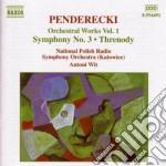 Opere x orchestra vol.1: sinfonia n.3, t cd musicale di Krzysztof Penderecki