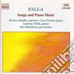 Lieder, musica x pf cd musicale di Falla emanuel de