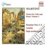 Opere x vlc e pf vol.1: sonate nn.1 > n. cd musicale di Bohuslav Martinu