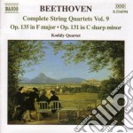 String quartets vol.9 cd musicale di BEETHOVEN LUDWIG VAN