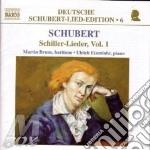Schiller lieder vol.1 cd musicale di SCHUBERT FRANZ PETER