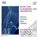MUSIC FOR SAXOPHONE AND ORCH. cd musicale