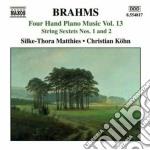 Opere per pianoforte a 4 mani (integrale cd musicale di Johannes Brahms