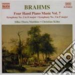 Opere x pf a 4 mani (integrale) vol.7: s cd musicale di Johannes Brahms
