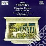 Notti egiziane op.50 cd musicale di Arensky anton stepan