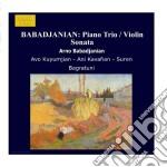 Trio con pianoforte, sonata per violino, cd musicale di Arno Babadjanian