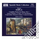 Opere per pianoforte (integrale) vol.1 cd musicale di Óscar EsplÁ