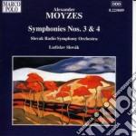 Moyzes Alexander - Sinfonia N.3 Op.17a, N.4 Op.38 cd musicale di Alexander Moyzes
