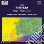 Lieder, opere per pianoforte cd musicale di Lord Berners