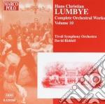 Opera per orchestra (integrale) vol.10 cd musicale di Lumbye hans christia