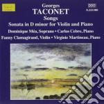 Taconet Georges - Liriche: 14 Melodies  Sonata Per Violino cd musicale di Georges Taconet