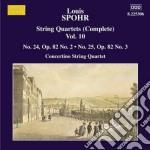 Quartetti per archi vol.10 (integrale): cd musicale di Louis Spohr