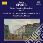 Quartetti per archi (integrale), vol.12: cd musicale di Louis Spohr
