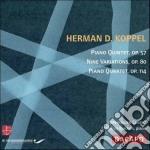 Quintetto per pianoforte, op.57; nove va cd musicale di Koppel herman d.