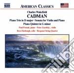 Trio op.56, sonata x vl, quintetto x pf cd musicale di Cadman charles wakef