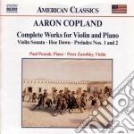 Musica per violino e piano cd musicale di Aaron Copland