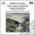 Sonata per violino, quartetto, quintetto cd musicale di Carpenter john alden